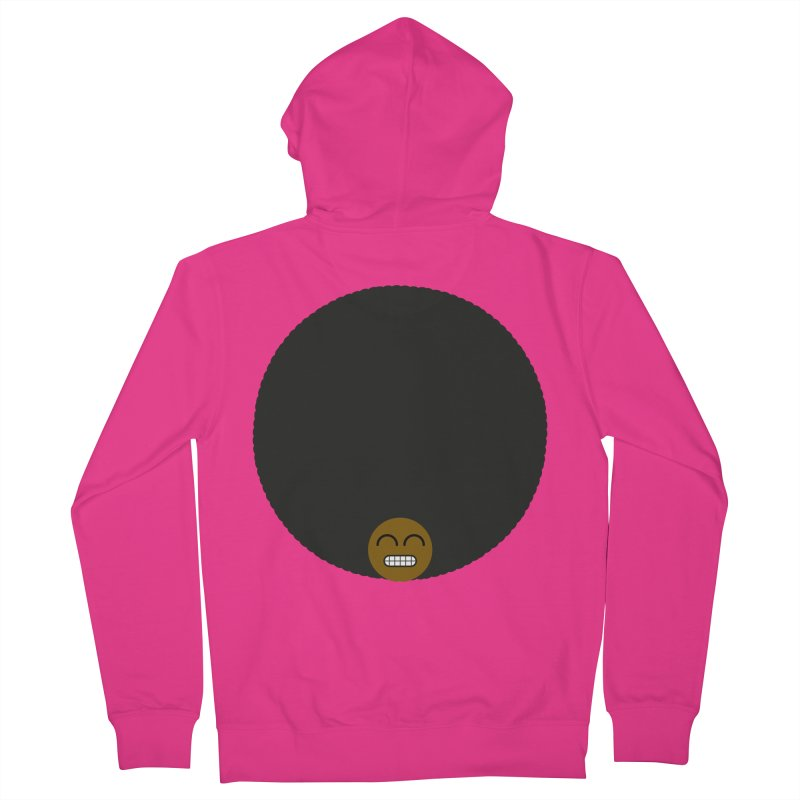 Afro Emoji Men's French Terry Zip-Up Hoody by Teezinvaders