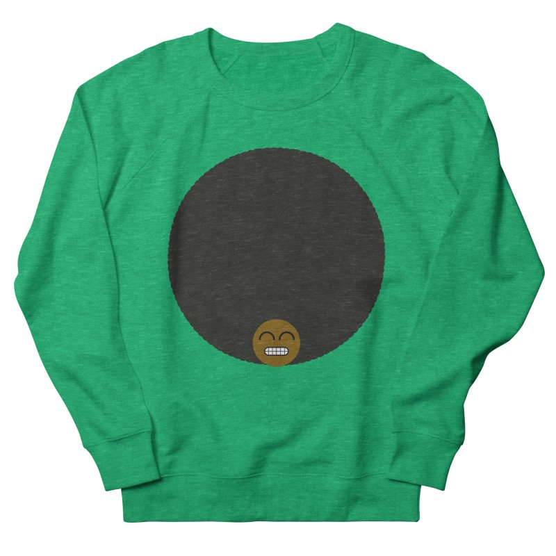 Afro Emoji Men's French Terry Sweatshirt by Teezinvaders