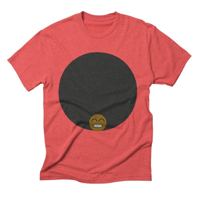 Afro Emoji Men's Triblend T-shirt by Teezinvaders