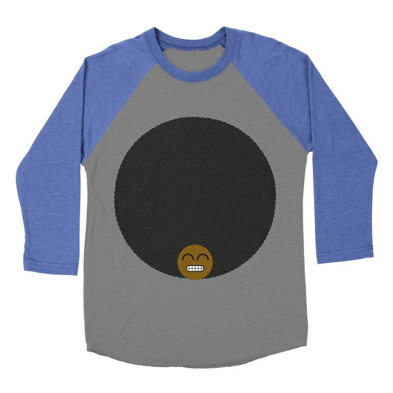 Afro Emoji Women's Baseball Triblend T-Shirt by Teezinvaders