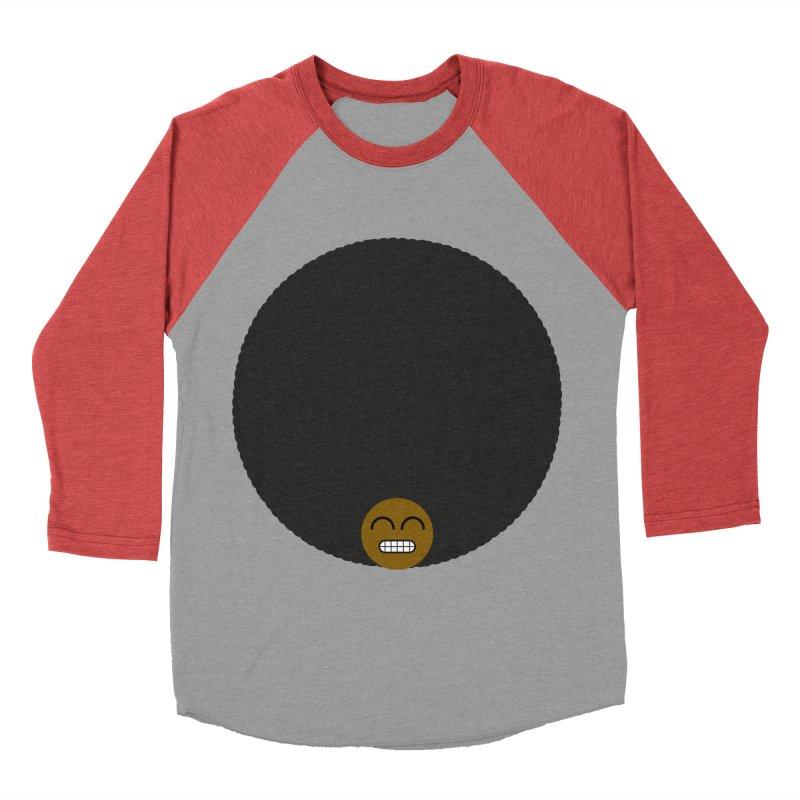 Afro Emoji Women's Baseball Triblend Longsleeve T-Shirt by Teezinvaders
