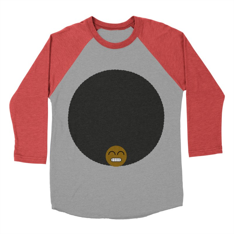 Afro Emoji Men's Baseball Triblend T-Shirt by Teezinvaders