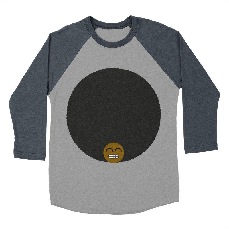Afro Emoji Men's Baseball Triblend T-Shirt by Teezinvaders