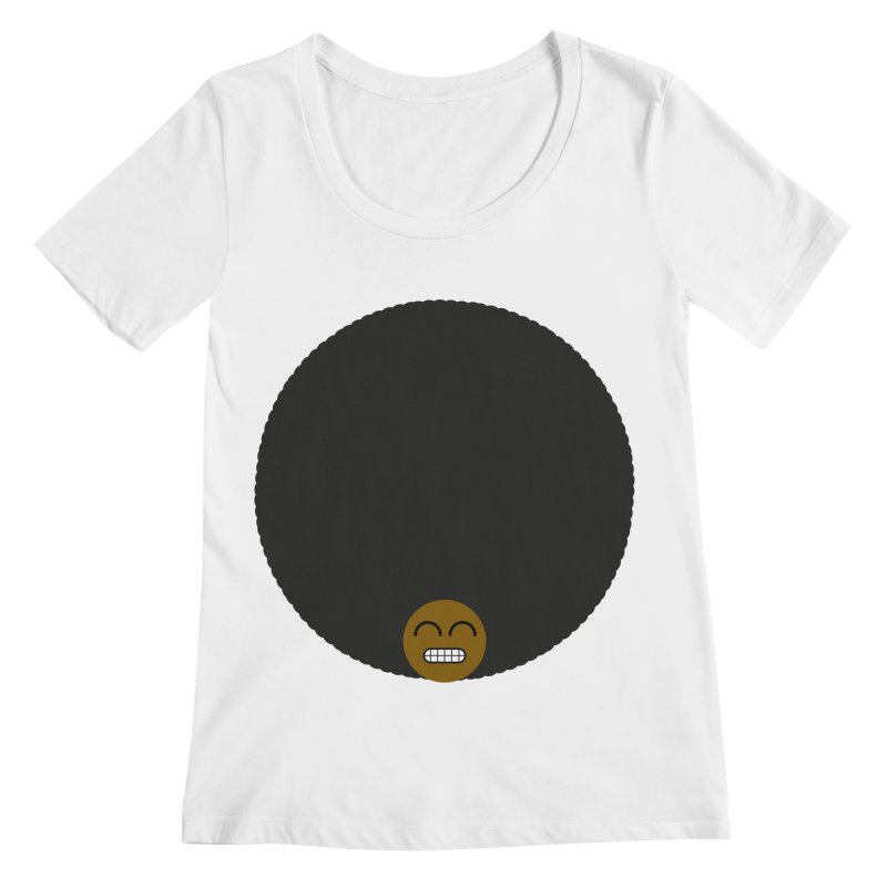 Afro Emoji Women's Scoopneck by Teezinvaders