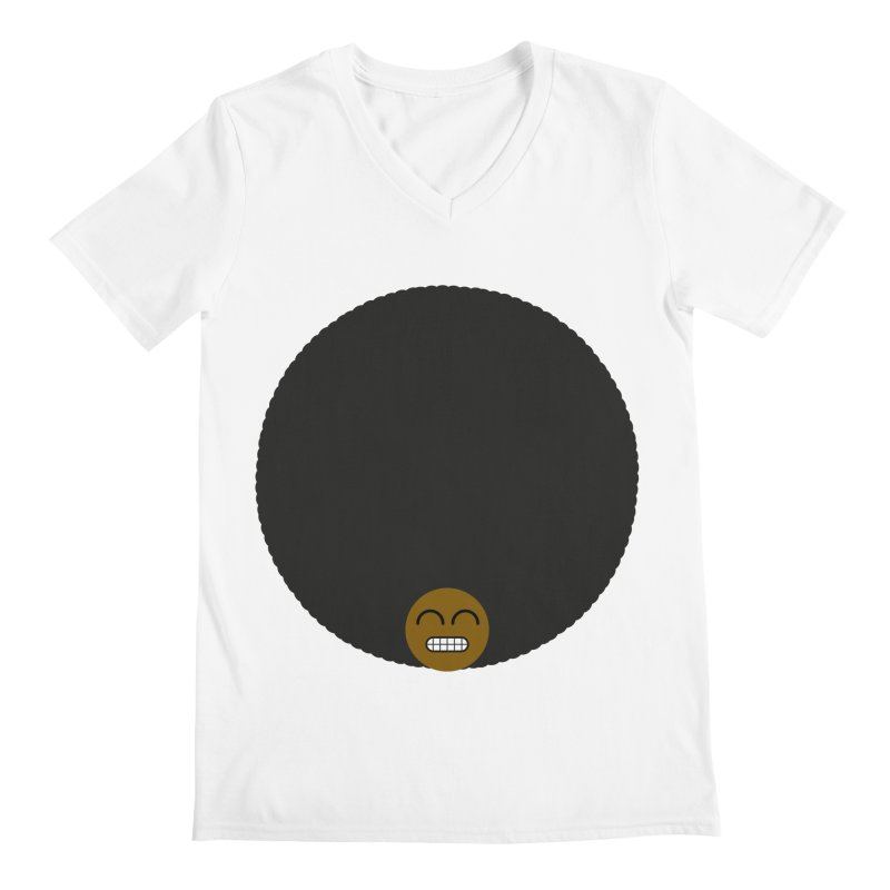Afro Emoji Men's Regular V-Neck by Teezinvaders