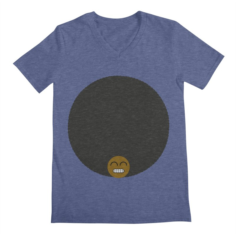 Afro Emoji Men's V-Neck by Teezinvaders