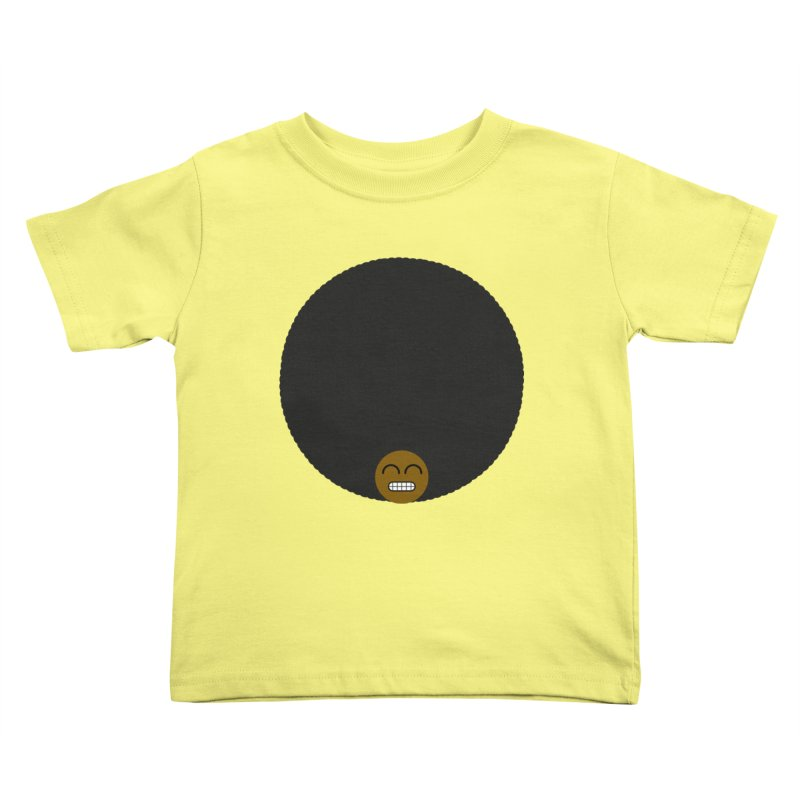 Afro Emoji Kids Toddler T-Shirt by Teezinvaders