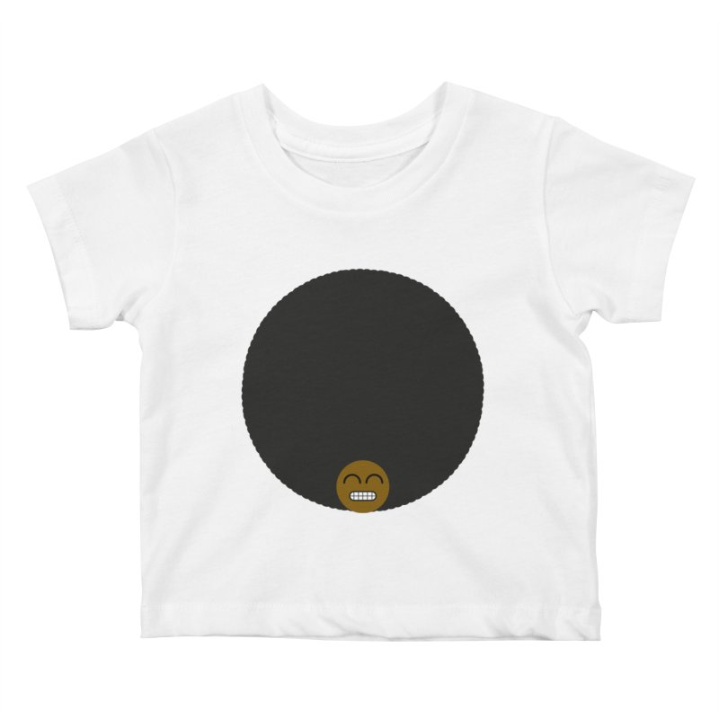 Afro Emoji Kids Baby T-Shirt by Teezinvaders
