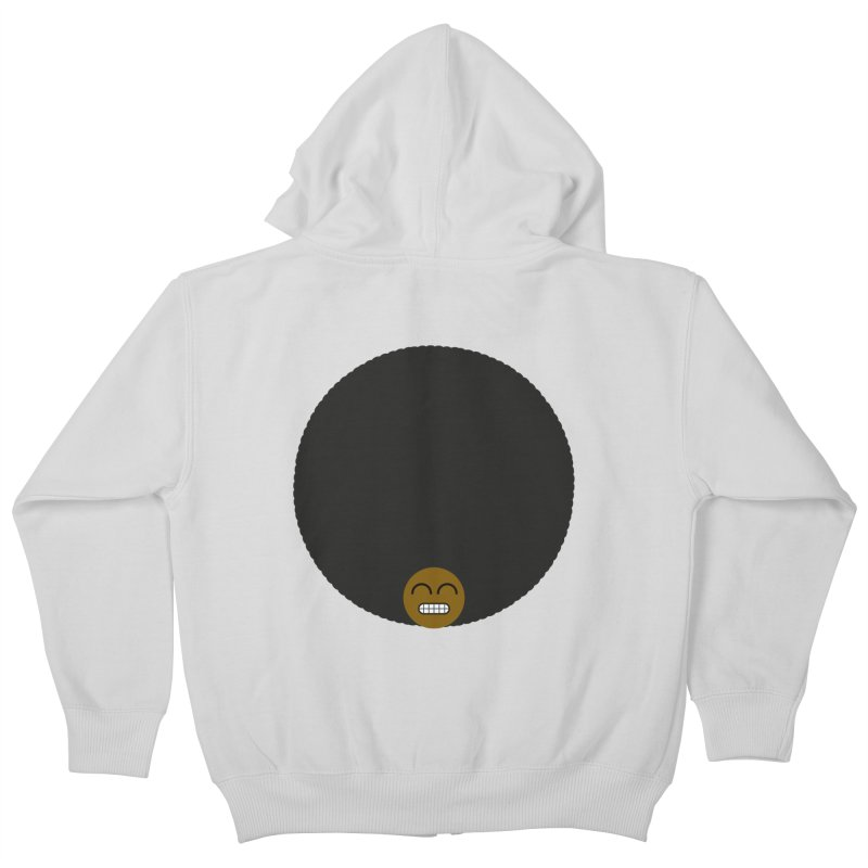 Afro Emoji Kids Zip-Up Hoody by Teezinvaders