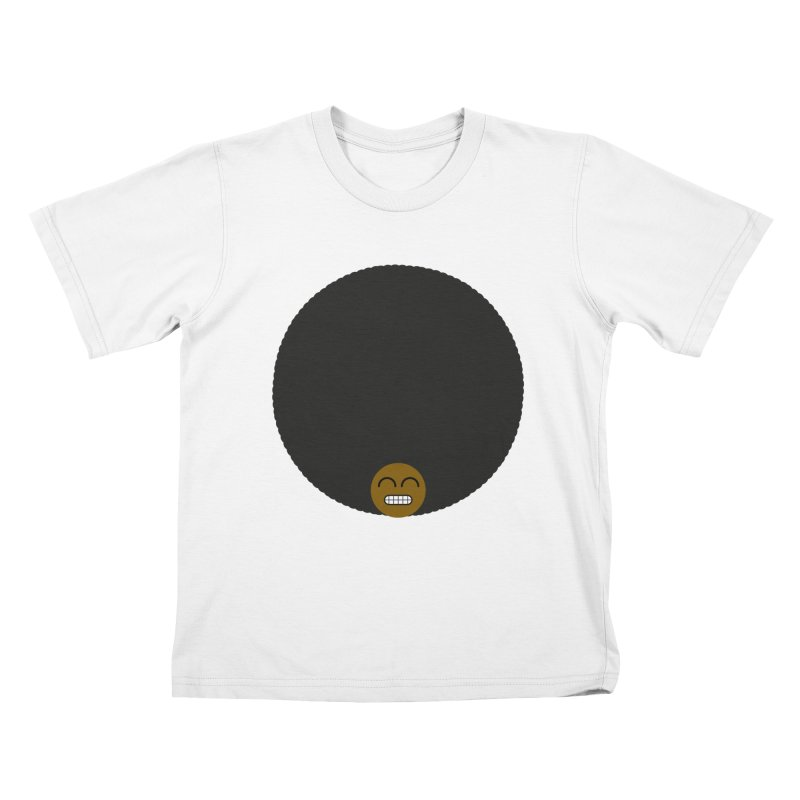 Afro Emoji Kids T-Shirt by Teezinvaders