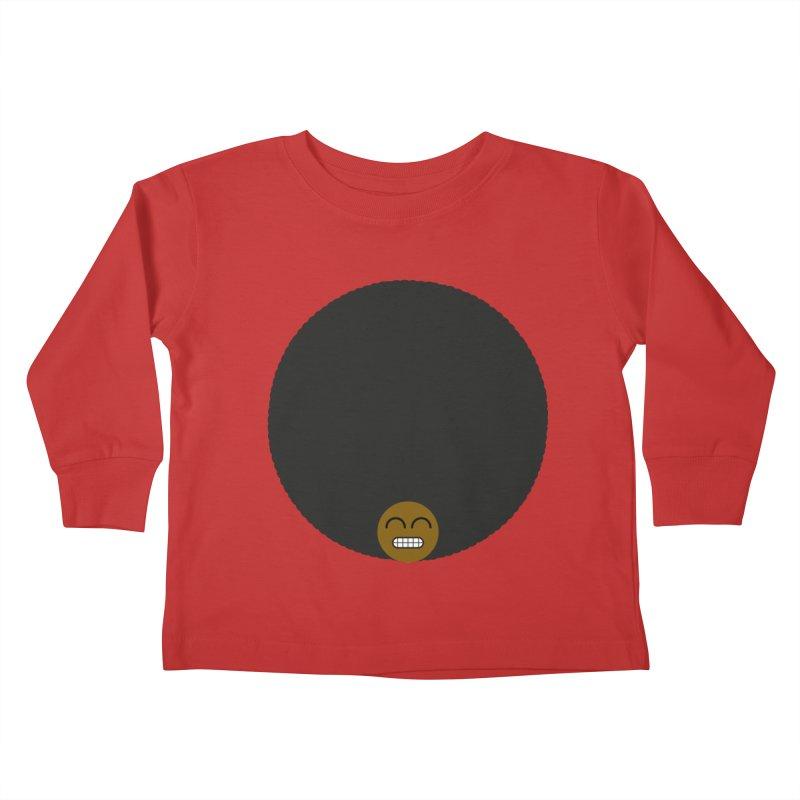 Afro Emoji Kids Toddler Longsleeve T-Shirt by Teezinvaders