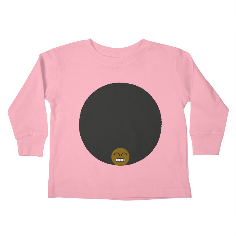 Afro Emoji Kids Toddler Longsleeve T-Shirt by Teezinvaders