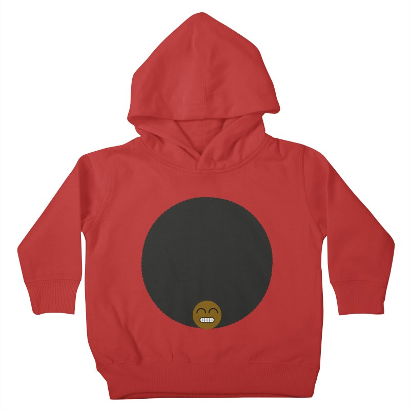 Afro Emoji Kids Toddler Pullover Hoody by Teezinvaders