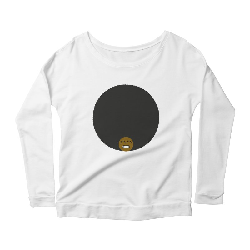 Afro Emoji Women's Scoop Neck Longsleeve T-Shirt by Teezinvaders