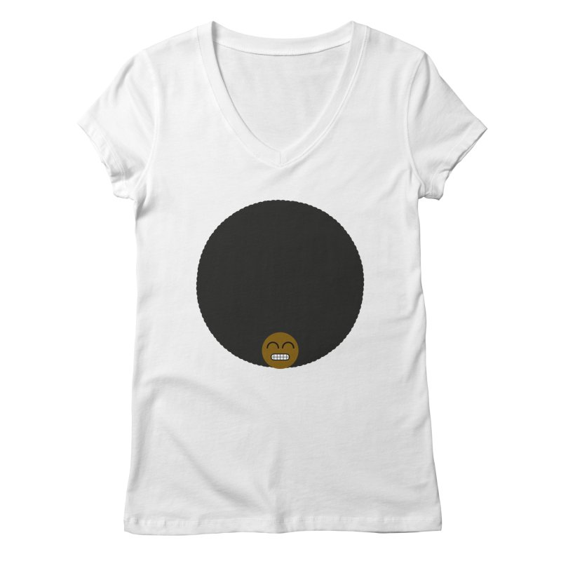 Afro Emoji Women's V-Neck by Teezinvaders