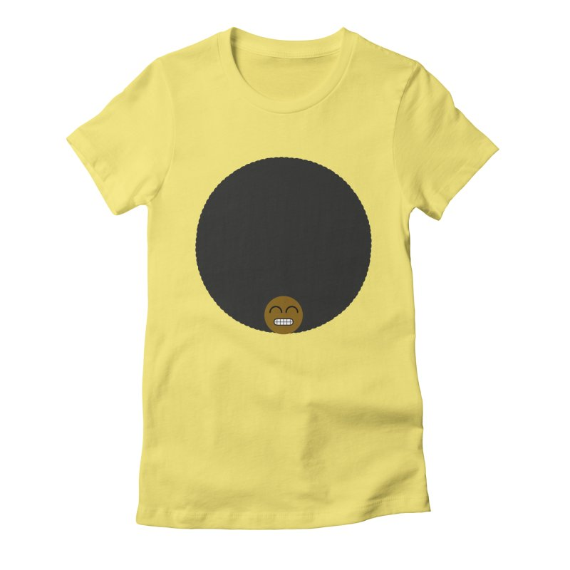Afro Emoji Women's Fitted T-Shirt by Teezinvaders