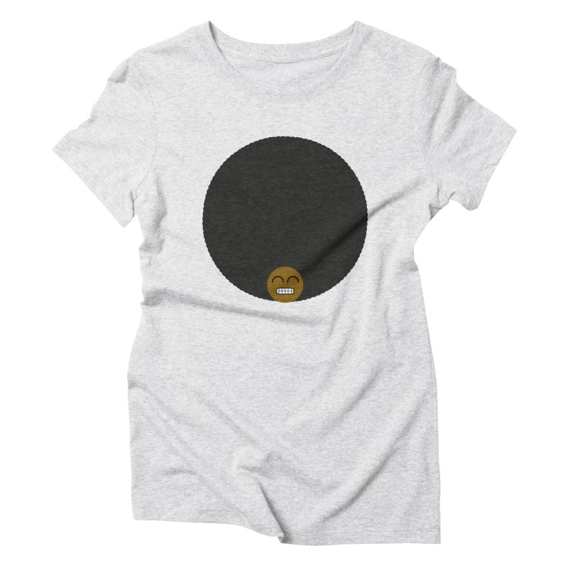 Afro Emoji Women's Triblend T-Shirt by Teezinvaders