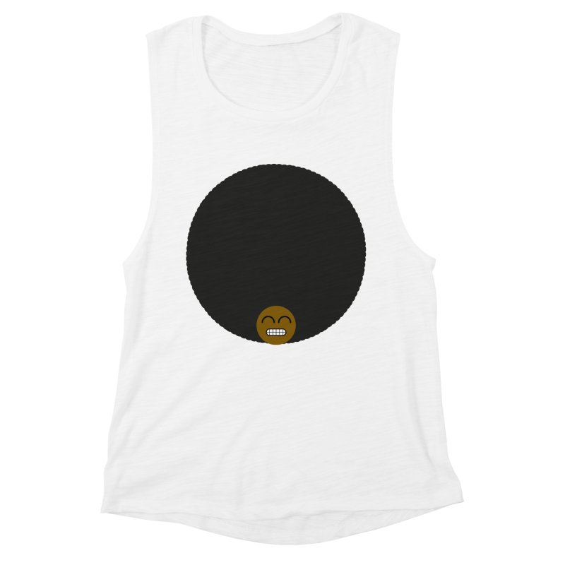 Afro Emoji Women's Muscle Tank by Teezinvaders