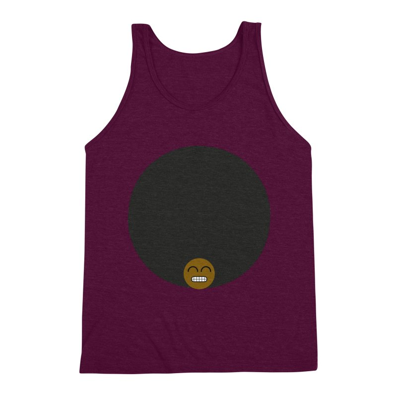 Afro Emoji Men's Triblend Tank by Teezinvaders