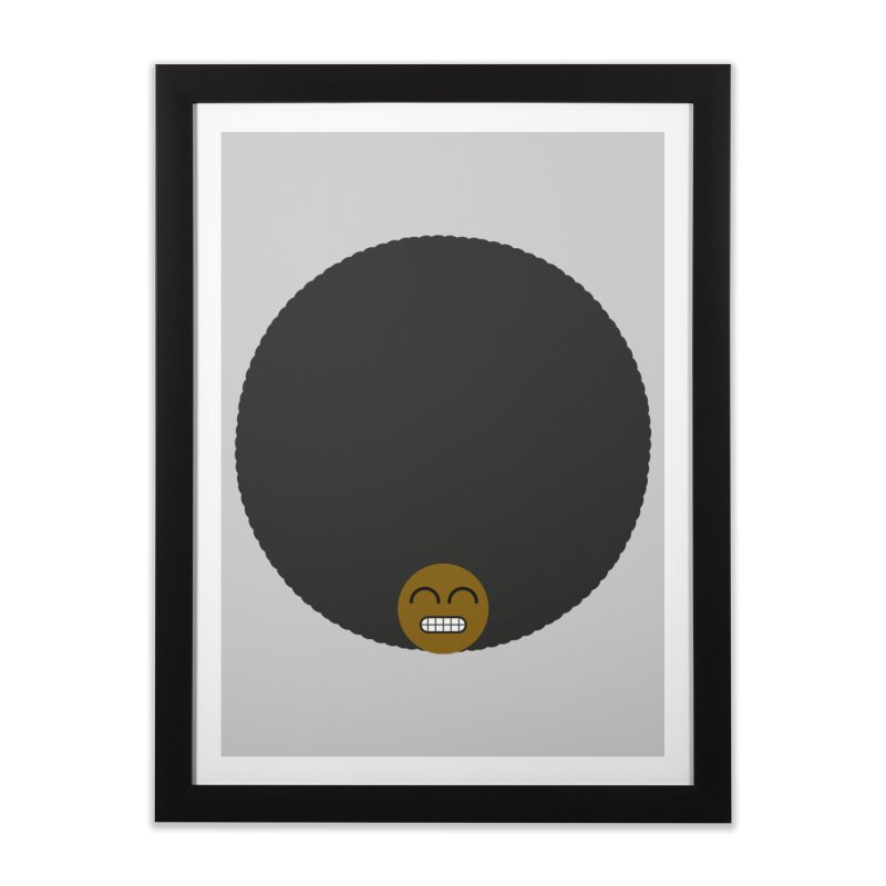 Afro Emoji Home Framed Fine Art Print by Teezinvaders