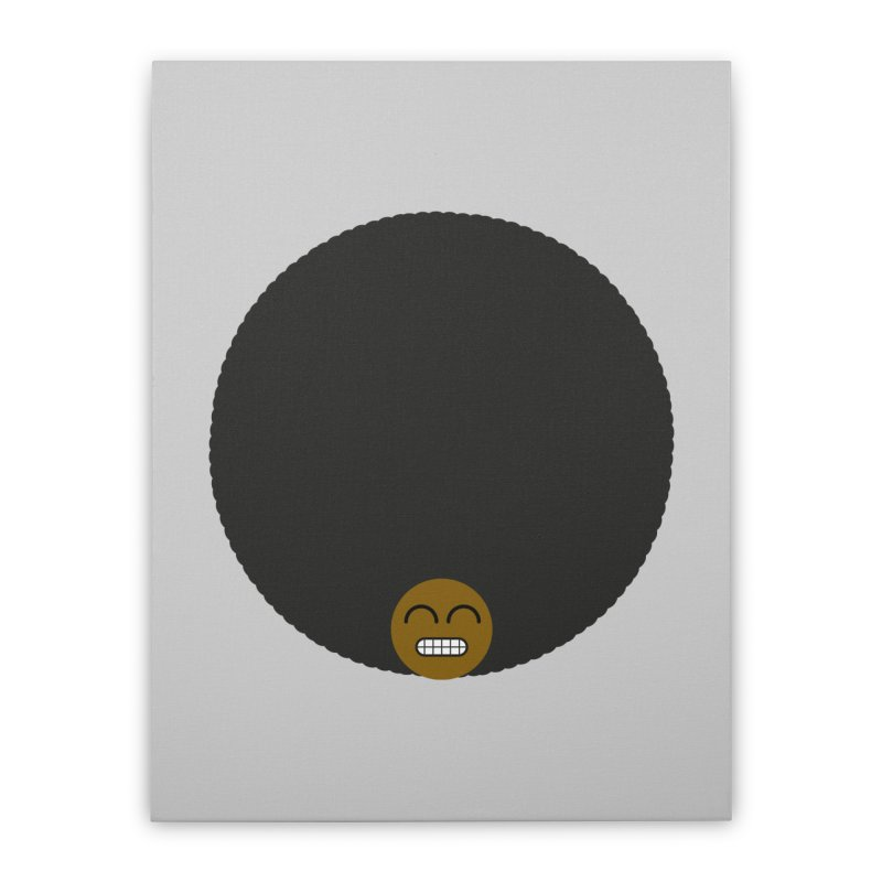 Afro Emoji Home Stretched Canvas by Teezinvaders