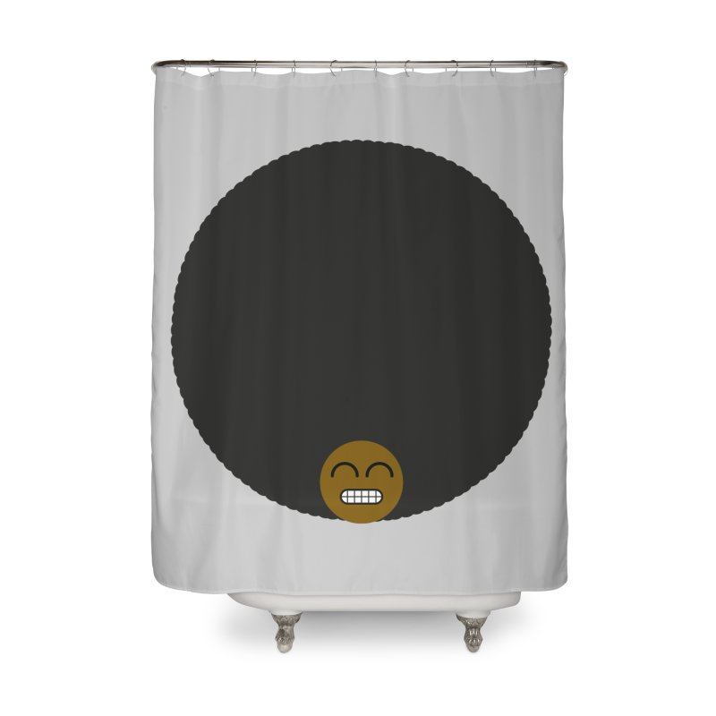 Afro Emoji Home Shower Curtain by Teezinvaders