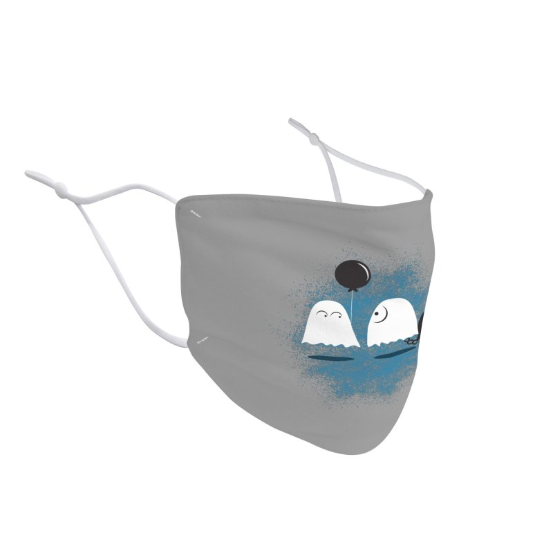 Lazy Ghost Accessories Face Mask by Teezinvaders