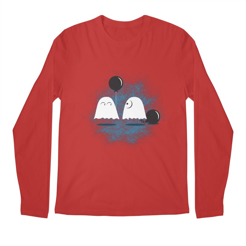 Lazy Ghost Men's Longsleeve T-Shirt by Teezinvaders