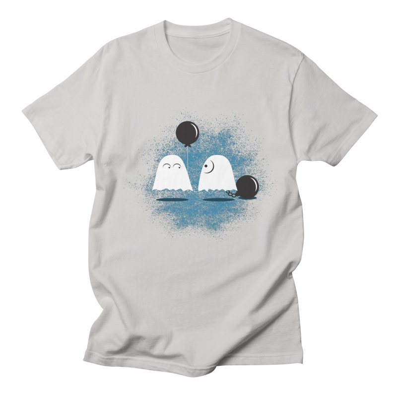 Lazy Ghost Men's T-Shirt by Teezinvaders