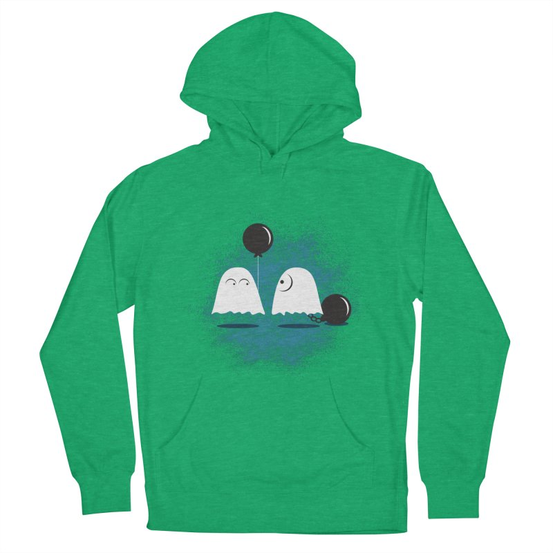 Lazy Ghost Women's French Terry Pullover Hoody by Teezinvaders