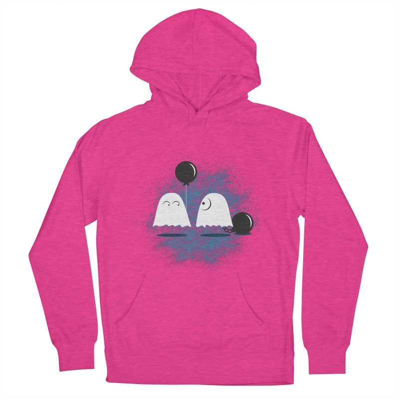 Lazy Ghost Men's French Terry Pullover Hoody by Teezinvaders