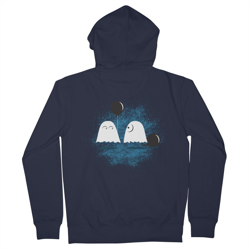 Lazy Ghost Women's French Terry Zip-Up Hoody by Teezinvaders