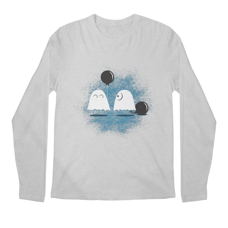 Lazy Ghost Men's Regular Longsleeve T-Shirt by Teezinvaders