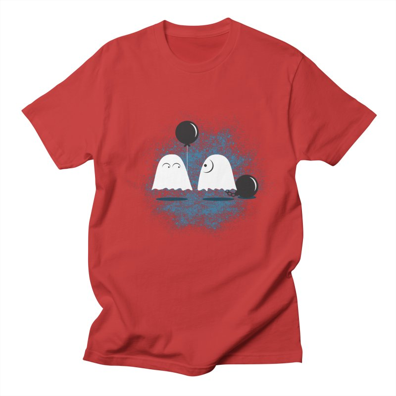 Lazy Ghost Men's Regular T-Shirt by Teezinvaders