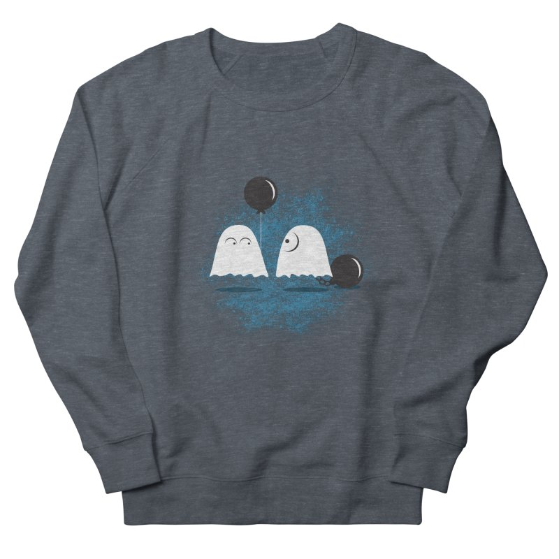 Lazy Ghost Women's French Terry Sweatshirt by Teezinvaders