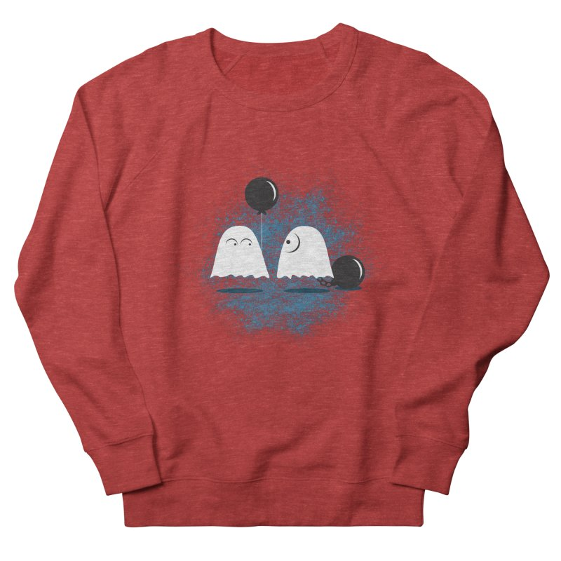 Lazy Ghost Men's French Terry Sweatshirt by Teezinvaders