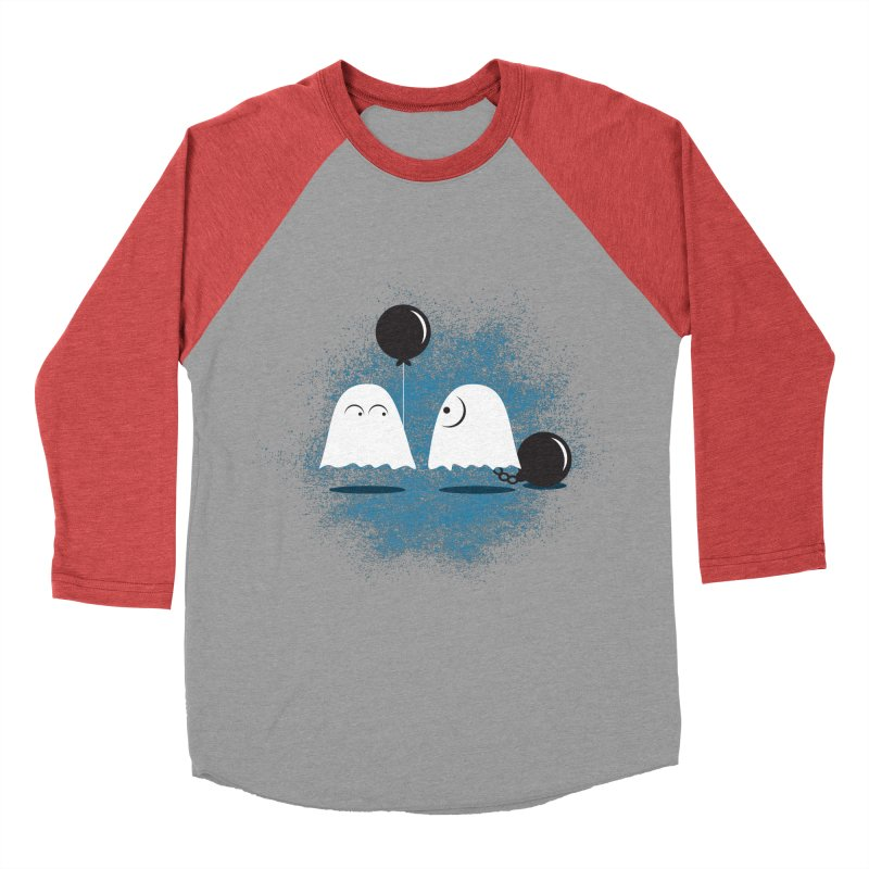 Lazy Ghost Men's Baseball Triblend T-Shirt by Teezinvaders