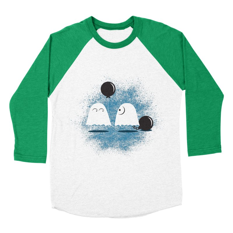 Lazy Ghost Men's Baseball Triblend Longsleeve T-Shirt by Teezinvaders