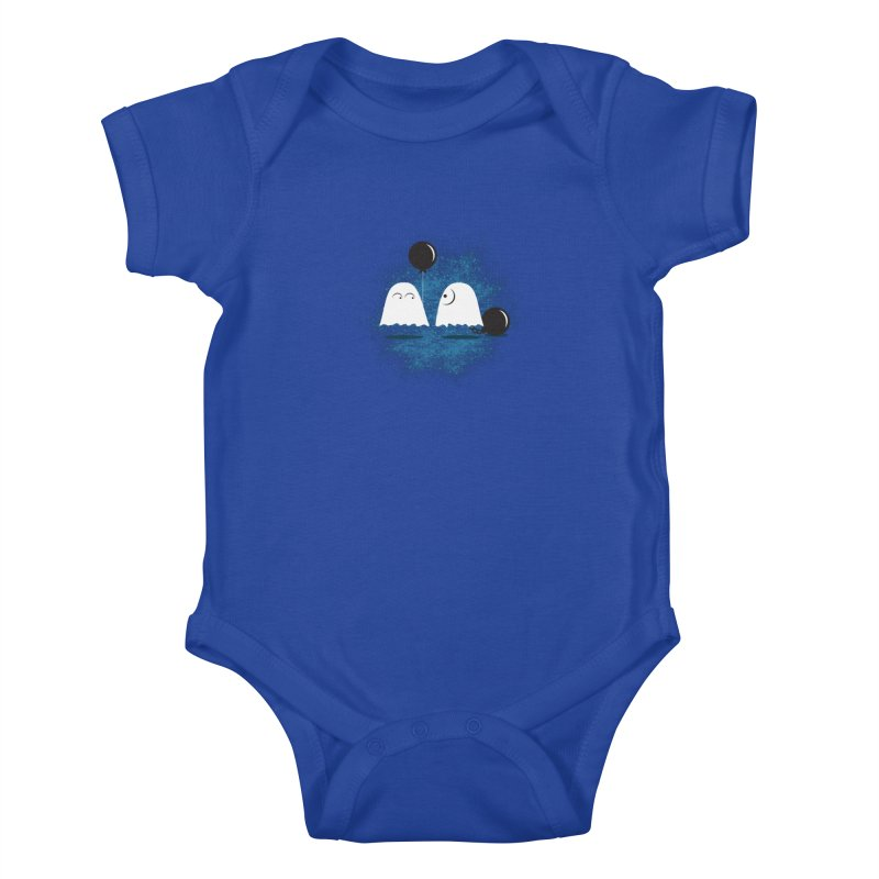 Lazy Ghost Kids Baby Bodysuit by Teezinvaders