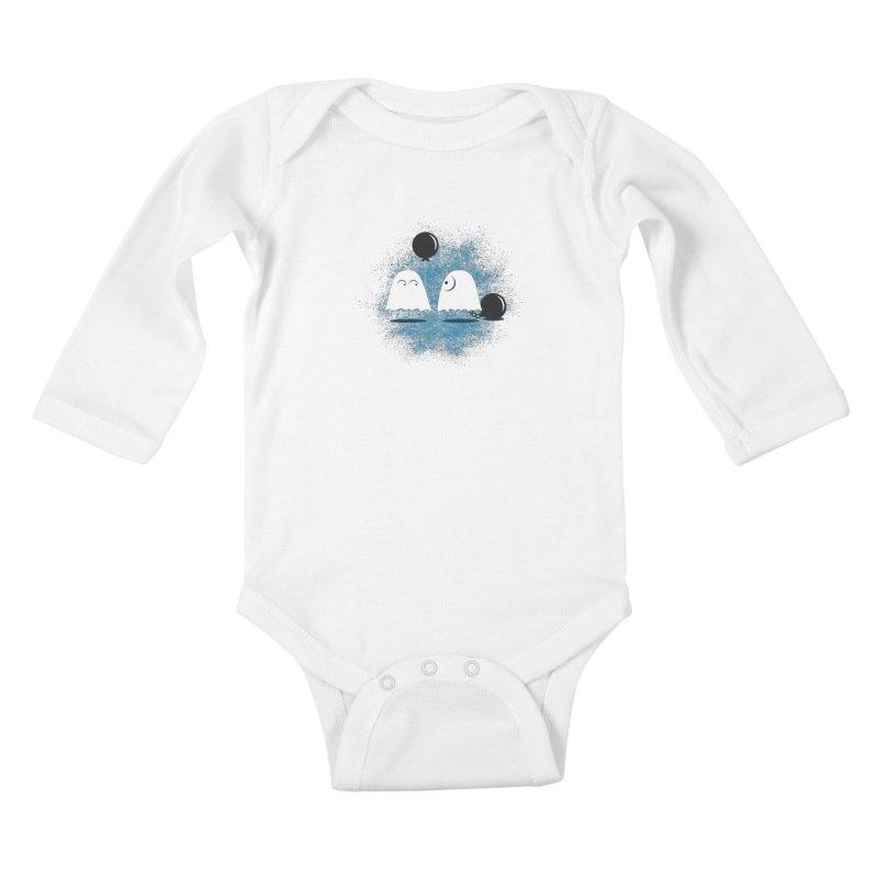 Lazy Ghost Kids Baby Longsleeve Bodysuit by Teezinvaders