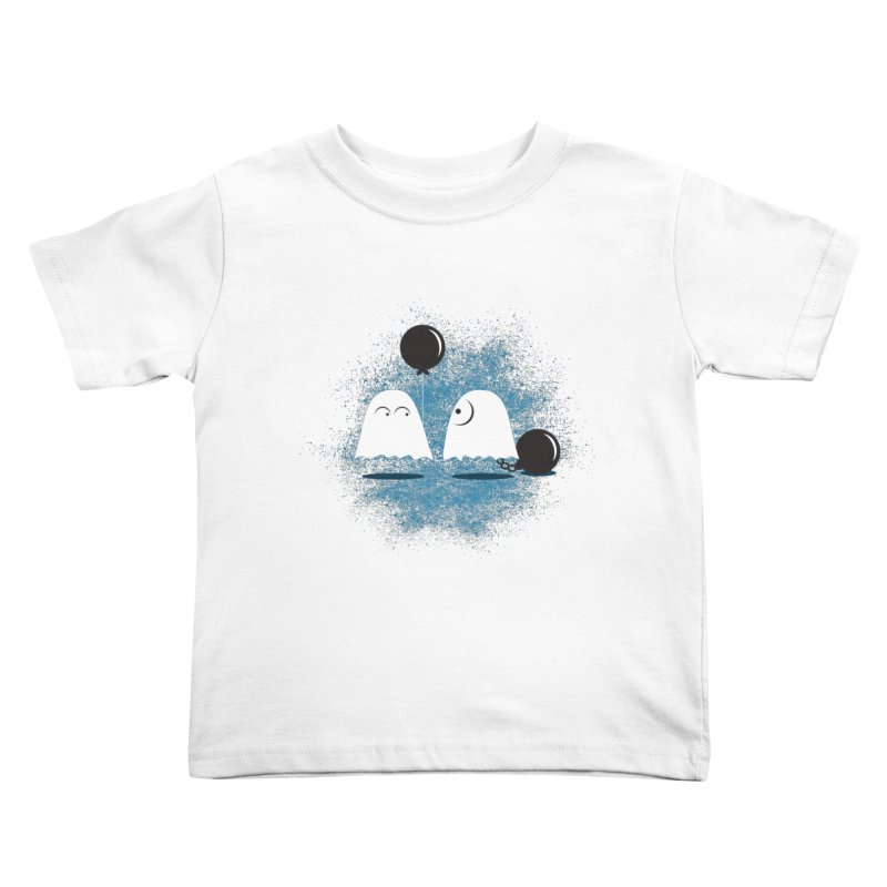Lazy Ghost Kids Toddler T-Shirt by Teezinvaders
