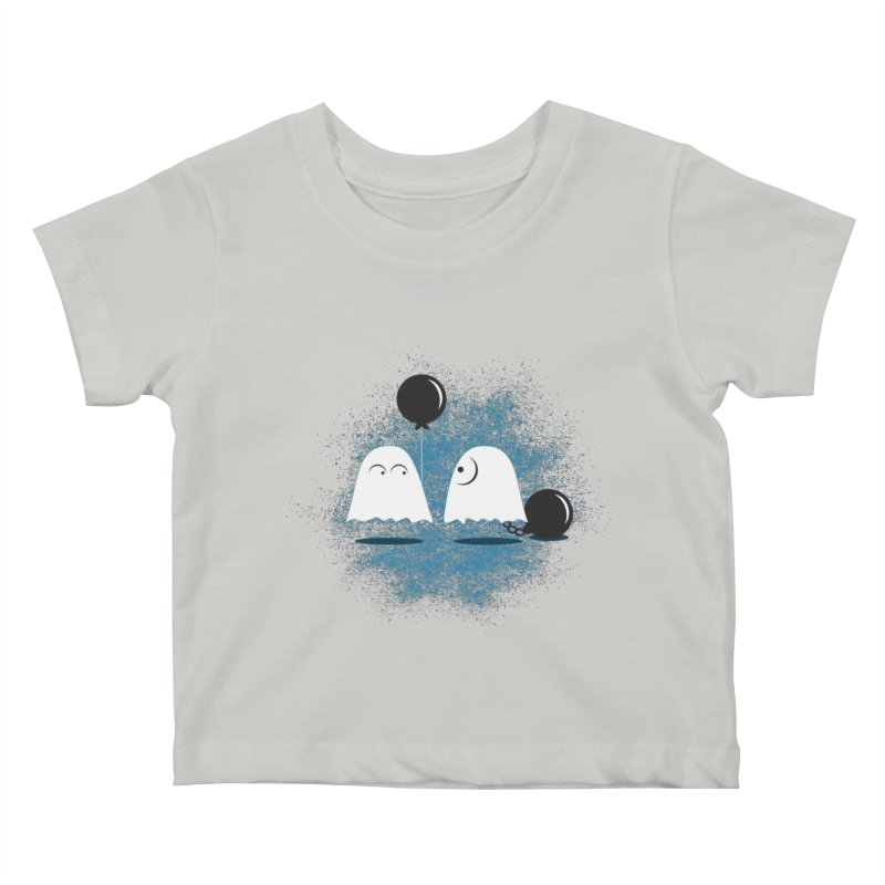 Lazy Ghost Kids Baby T-Shirt by Teezinvaders