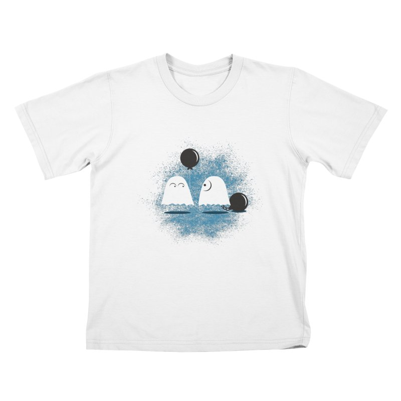 Lazy Ghost Kids T-Shirt by Teezinvaders