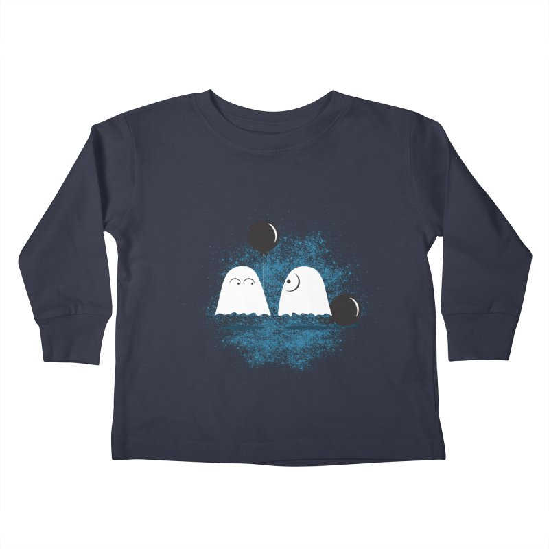 Lazy Ghost Kids Toddler Longsleeve T-Shirt by Teezinvaders