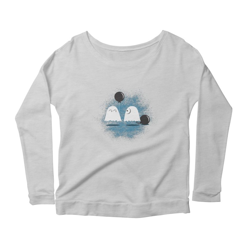 Lazy Ghost Women's Scoop Neck Longsleeve T-Shirt by Teezinvaders