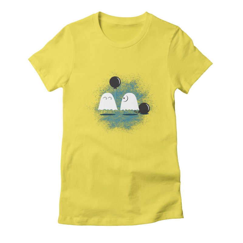 Lazy Ghost Women's Fitted T-Shirt by Teezinvaders