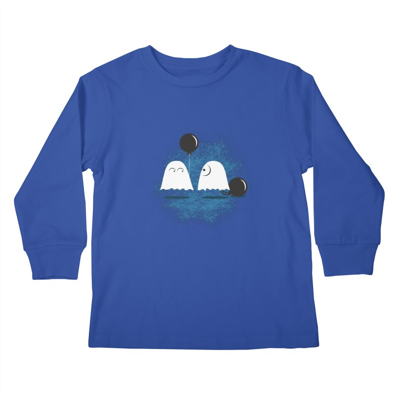 Lazy Ghost Kids Longsleeve T-Shirt by Teezinvaders