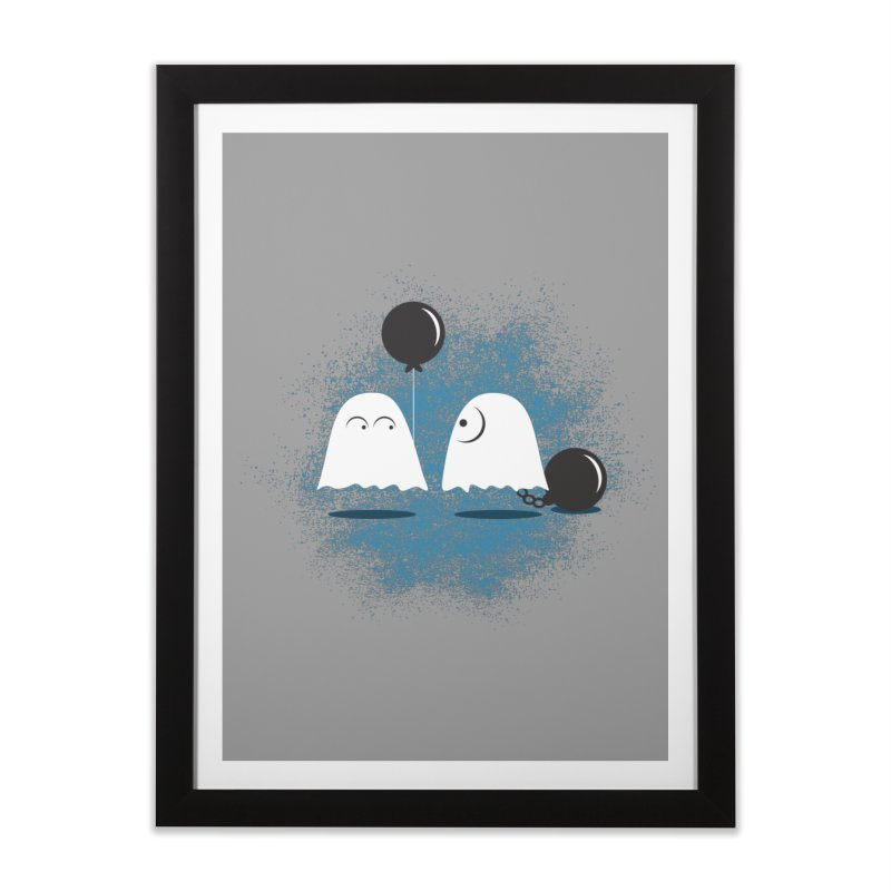 Lazy Ghost Home Framed Fine Art Print by Teezinvaders