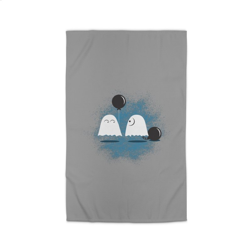 Lazy Ghost Home Rug by Teezinvaders