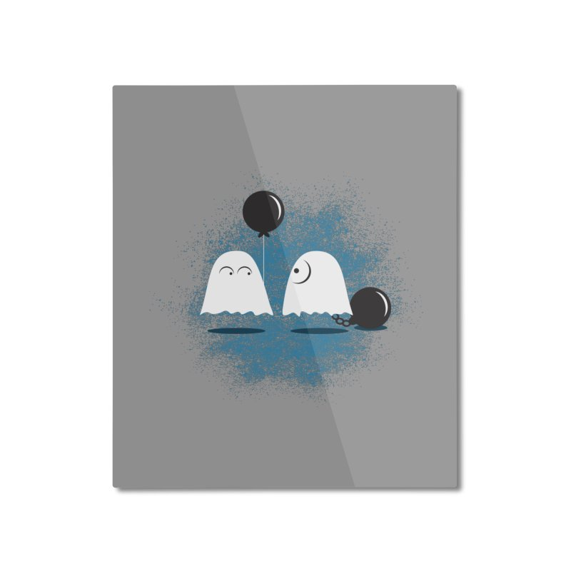 Lazy Ghost Home Mounted Aluminum Print by Teezinvaders